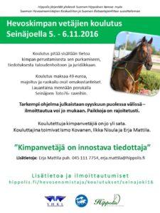 KimpanvetajatmainosSeinajoki2016